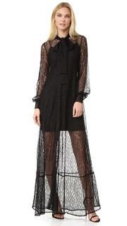 Кружевное вечернее платье McQ - Alexander Mc Queen