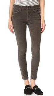 Узкие вельветовые брюки до щиколотки Looker с потрепанным краем Mother