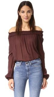 Блуза с оборчатым воротником Raquel Allegra