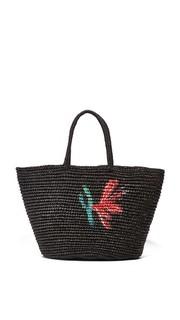 Большая объемная сумка с короткими ручками и с цветочным рисунком Sensi Studio