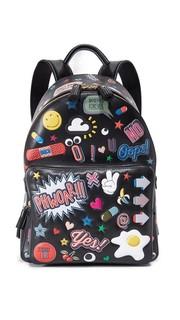 Рюкзак Wink с наклейками по всей поверхности Anya Hindmarch
