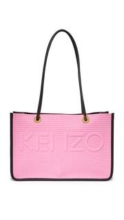 Объемная сумка-шоппер с короткими ручками из неопрена Kenzo