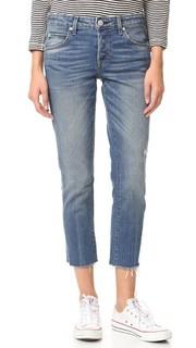 Tomboy Crop Frayed Edge Jeans AMO