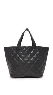 Объемная стеганая сумка Billie с короткими ручками Deux Lux