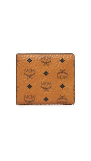 Миниатюрный кошелек двойного сложения MCM