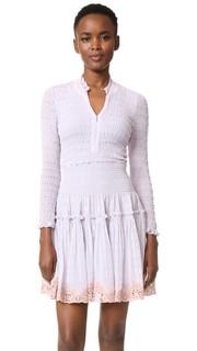 Long Sleeve Clip Mix Dress Rebecca Taylor