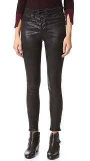 High Rise Lace Up Leather Pants Rag & Bone/Jean