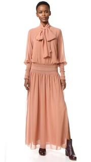 Макси-платье с завязками на шее See by Chloe