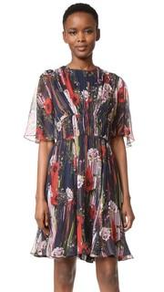 Коктейльное платье из шифона с принтом Jason Wu