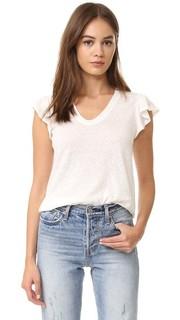 Выцветшая футболка с короткими рукавами и оборками La Vie Rebecca Taylor