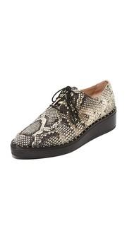 Ботинки на шнурках Frances с принтом под питона и платформой Loeffler Randall