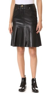 Кожаная юбка Boutique Moschino