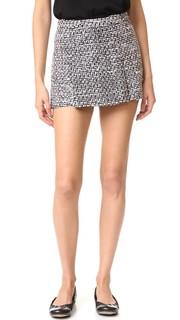 Юбка-шорты из твида Boutique Moschino