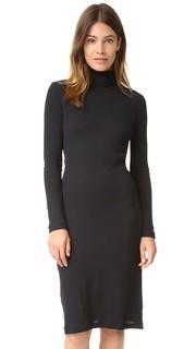 Платье 2x2 в рубчик с воротником под горло Petit Bateau