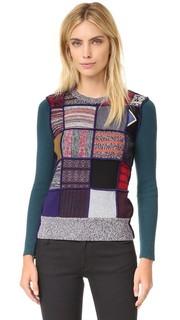 Пуловер в лоскутном стиле See by Chloe