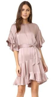Оборчатое ворсованное платье Zimmermann