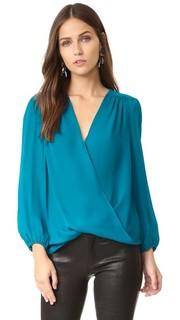 Шелковая блуза Arleene с драпировкой Alice + Olivia