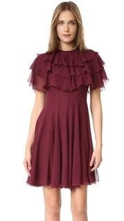 Платье с оборками Giambattista Valli