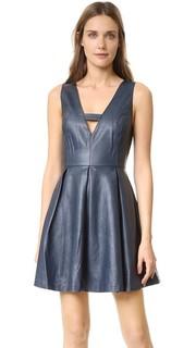 Мини-платье из искусственной кожи J.O.A.
