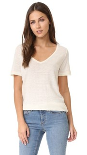 Льняная футболка с V-образным вырезом Petit Bateau