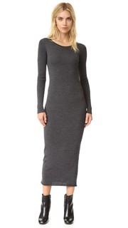 Платье-свитер из мериносовой шерсти с отвернутой горловиной T by Alexander Wang