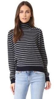 Кашемировый свитер в бретонскую полоску Vince