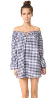 Платье с открытыми плечами и расклешенными рукавами Amanda Uprichard