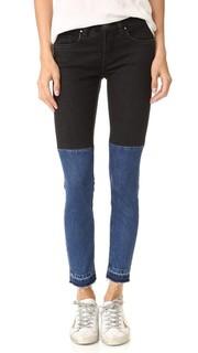 Двухцветные джинсы с необработанным краем Blank Denim