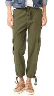 Узкие укороченные брюки-карго James Perse