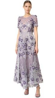 Платье со стеклярусом по всей поверхности Marchesa