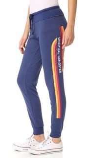 Спортивные брюки в полоску SG в стиле ретро Spiritual Gangster