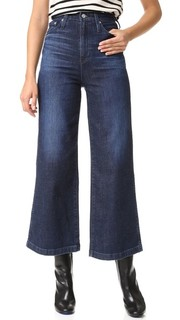 Широкие джинсы до щиколотки Yvette с высокой посадкой AG