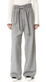 Шерстяные брюки с завязками Msgm