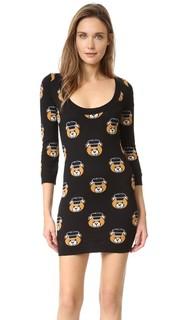Платье с изображением мишек Moschino