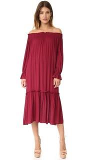 Миди-платье с открытыми плечами Re:Named