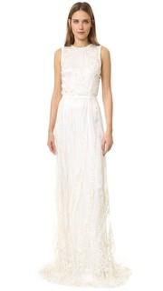 Вечернее платье без рукавов Rodarte