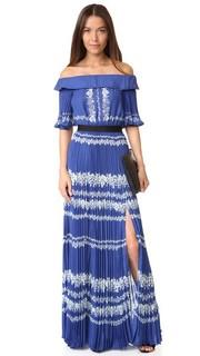 Макси-платье с открытыми плечами Self Portrait