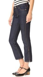 Укороченные джинсы Jodi с разрезами по бокам AG