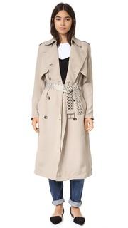 Пальто-тренч со спинкой в стиле блузона Alexander Wang