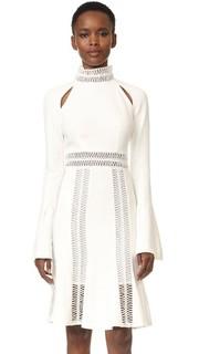 Расклешенное платье с расклешенными рукавами Jonathan Simkhai