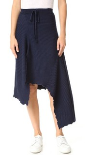 Асимметричная миди-юбка со вставками Marques Almeida