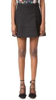 Мини-юбка из вставок с силуэтом-трапецией Victoria Victoria Beckham
