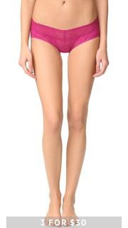 Трусики-шорты Bare с низкой талией из кружева Calvin Klein Underwear