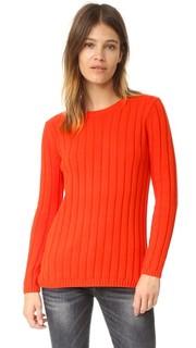 Рубчатый свитер с округлым вырезом и вставкой 525 America