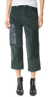 Вельветовые брюки-карго MM6