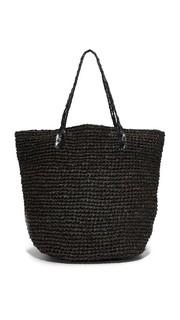Объемная сумка Bebel из рафии с короткими ручками Monserat De Lucca