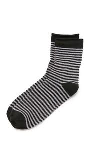 Флисовые носки в полоску с отворотами Plush