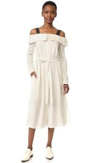 Платье-рубашка с открытыми плечами Tibi