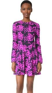 Платье с текстурированным принтом в виде букета Tanya Taylor
