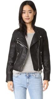Байкерская куртка из искусственной кожи Blank Denim